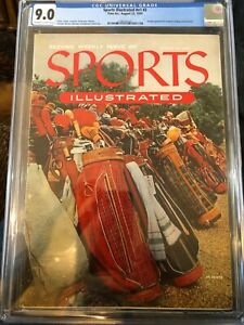 Sports illustrated Newsstand 1954 second issue CGC 9.0 golf bags 9th (tie) of 52