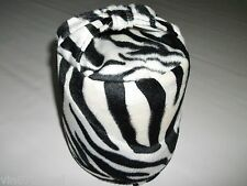 Fabric Faux Fur Soft Velboa Zebra Design Door Stop SewGoodShop