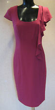HOLLY WILLOUGHBY PINK FRILL PENCIL DRESS UK SIZE 8 NEW TAGS