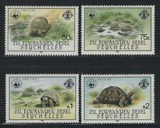 Seychelles-ZES 1985 World Wildlife Fund set & S/S Sc# 106-10 NH