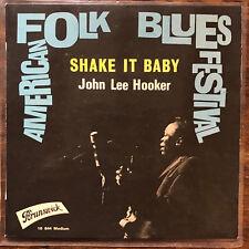 John Lee Hooker American Blues Festival Ep - Shake It Baby Ex! 1963 blues