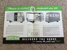 1953 Brush electric vehicles sales information.