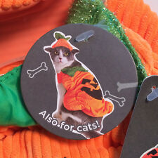 Pumpkin Halloween Costume - XSmall 2 Piece Set - New With Tags - Pet Cats & Dogs