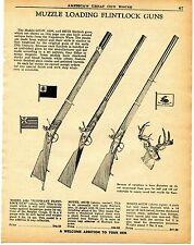 1960 Print Ad of Flintlock Guns 6494 Elephant 4957B & 6475W Muzzle Loader Rifle