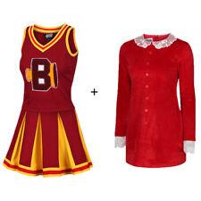 Sabrina Cheerleader and Dress Bundle Baxter High Ravens Costume Cosplay Fancy