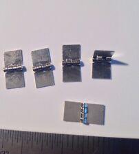 "Miniature  Hinges...silver  1/2"" X 1/4"" Silver...100 Pcs..free Ship USA"