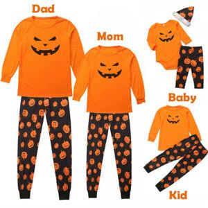 Halloween Family Matching Adult Kids Christmas Pyjamas Set Nightwear Homewear