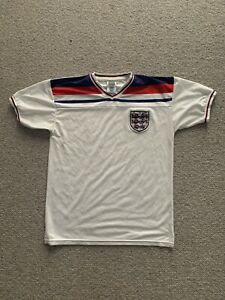 RETRO REMAKE ENGLAND 1980-1982 WORLD CUP MENS L LARGE HOME SHIRT SCORE DRAW