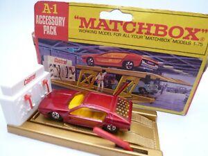 VINTAGE MATCHBOX SUPERFAST A1 SERVICE RAMP CASTROL IN ORIGINAL BOX 1969