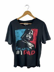 VINTAGE Star Wars Short Sleeve T Shirt Adult Size L Black Darth Vader #1 Dad