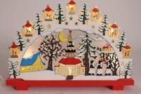 Lichterbogen Schwibbbogen Adventskalender Winterdorf Weihnachten Holz