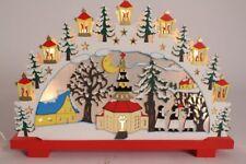 Illuminated Arch Schwibbbogen Advent Calendar Winterdorf Christmas Wood