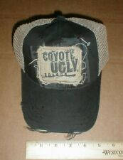 VTG NEW Coyote Ugly Saloon Sample hat rare Mesh distressed Cloth with sewn-patch