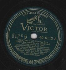 Victor H J-3 Disc 40-0112 LIONEL HAMPTON: Don't Be That Way/On the Sunny Side E