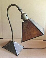 Antique Arts & Crafts Mission Desk Lamp Mica Shade