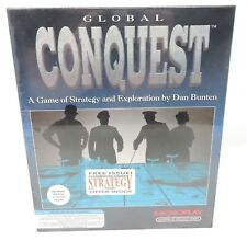 Global Conquest: A Game of Strategy and Exploration by Dan Bunten Big Box NIB
