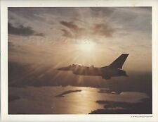 8.5 x 11 PRINT General Dynamics F-16 MULTI-ROLE FIGHTER Fighting Falcon Sunset