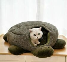 New Turtle Shape Pet Dog Cat House Beds Tent Cushion Mat Puppy Kitty Indoor M