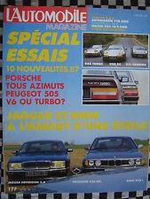 revue L'AUTOMOBILE 1986 PORSCHE 928 S4 + 944 TURBO + 911 / PEGEOT 505 TURBO + V6