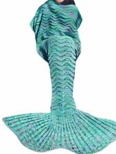 """Kpblis All Seasons Latest Soft Mermaid Blanket Tail for Kids and Adults 71""""35..."""