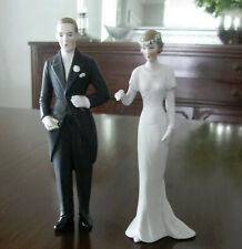 Antique 1920  Bisque Bride Groom Wedding Cake Topper Hertwig & Co. Germany