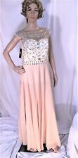 Women Size 14 Wedding Bridesmaid Dress Evening Prom Party Rhinestone Sequin