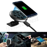 Qi Wireless Car Charger Transmitter Holder Fast Charging For Samsung Smartphone