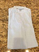 On Sale! Concierge Collection Soft   Cozy Zip Front Robe - Aqua -M L ... 4659759af