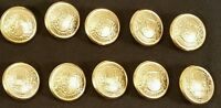 Waterbury Metal Buttons Lot of 10 Salzburg Heraldic Crest Gold Color 81290 NEW