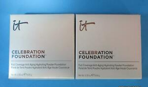 Set of 2 IT COSMETICS CELEBRATION FOUNDATION HYDRATING LIGHT New In BOX