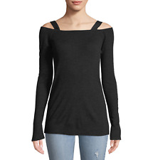 RAG & BONE WOMEN'S BLACK LONG SLEEVE SURPLUS WOOL BLEND TOP Sz M