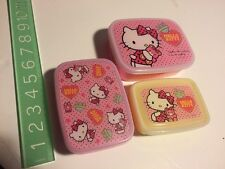 Rare 2011 Sanrio Original Japan Hello Kitty High Quality Bento Storage Box Set 3
