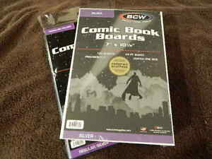 100 New BCW Silver Age Comic Book Bags And Boards - Acid Free - Archival Storage
