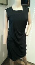 Helmut Lang Black Wiggle Bandage Cocktail Dress