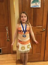 Moana-inspired Ice Skating Dress Child 10-12