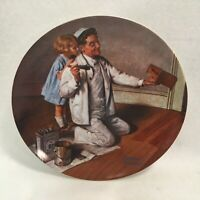 """Vintage Norman Rockwell Collector Plate by Knowles - """"The Painter"""""""