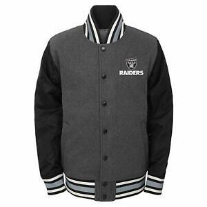 Outerstuff NFL Football Boys Oakland Raiders Letterman Varsity Jacket