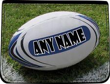 Personalizzata Rugby Palla Stampa Nero in Finta Pelle Portafoglio da uomo compleanno regalo di Natale