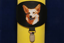 Pembroke Welsh Corgi arm band ring number holder with clip. For dog shows.
