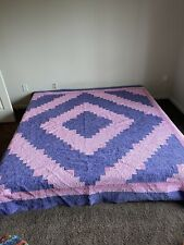 New listing king size quilt Pink And Purple Bedding