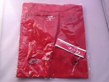 Grip Active Wear Red T-Shirt Size M 100% Cotton New