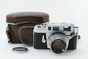 Rare! 50mm Lens!! Near Mint Konica III A Rangefinder Camera w/ Case From Japan