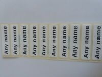 Personalised Printed School Uniform iron-on tapes name labels for clothes