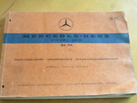 Ersatzteilliste Mercedes W 114  250 C / 250 CE  Coupe  Ersatzteilkatalog -