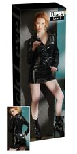 Black Level Lack-Mantelkleid schwarz S - XL mit Kragen Decollete Verführung