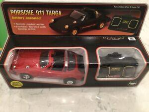 Vintage 1984 New Bright Porsche 911 Targa Remote Control Plastic Car - #215