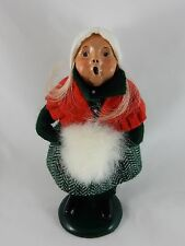 Byers Choice 1988 Caroler Girl w/White Muff   SIGNED BASE