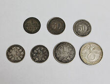 1856-1939 Collector Lot of 7 Early Germany Silver Coins of Different Types