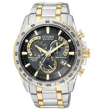 BRAND NEW CITIZEN ECO-DRIVE AT PERPETUAL CHRONO ATOMIC TWO TONE AT4004-52E NIB!