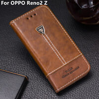 Flip Wallet Stand Card Slots Pu Leather Phone Case Cover 6.53'' For OPPO Reno2 Z